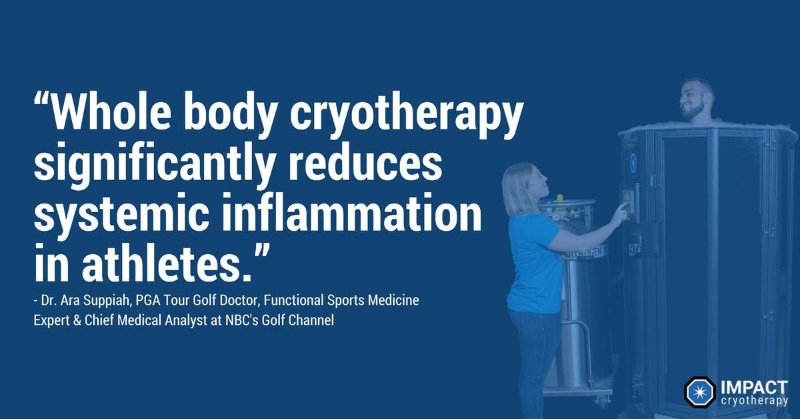 Cryotherapy reduces inflammation